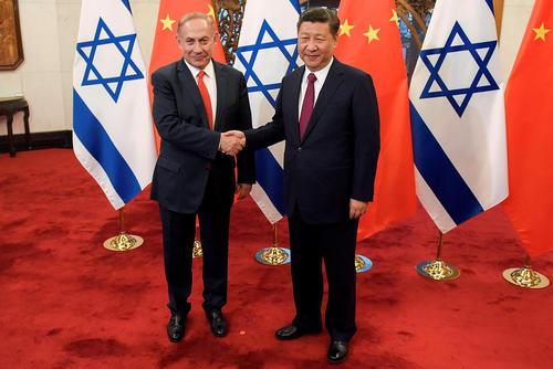 دیدار نخست وزیر اسراییل با رییس جمهور چین – پکن
