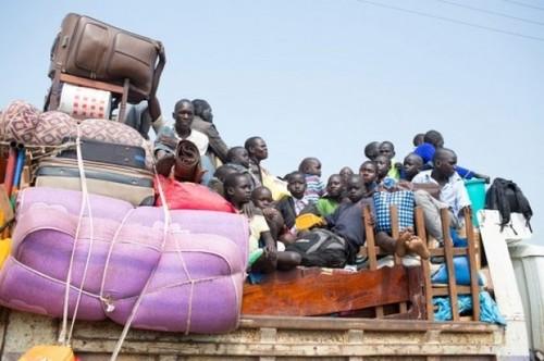 فرار شهروندان سودان جنوبی به سودان به دلیل ادامه جنگ داخلی و درگیری های مسلحانه در سودان جنوبی