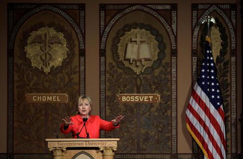 سخنرانی هیلاری کلینتون در یک گردهمایی مربوط به زنان در واشنگتن
