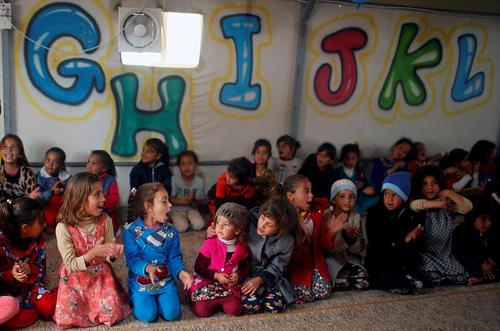کودکان اردوگاه آوارگان جنگی در عراق در انتظار ورود دبیر کل سازمان ملل