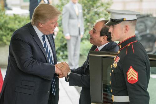 دیدار رییس جمهور مصر با همتای آمریکایی در کاخ سفید