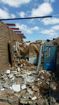 خسارت زلزله در روستای موسی آباد از توابع تربت جام