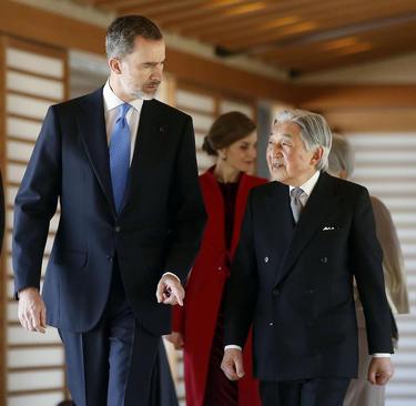 دیدار پادشاه اسپانیا با امپراتور ژاپن در قصر امپراتوری ژاپن در توکیو