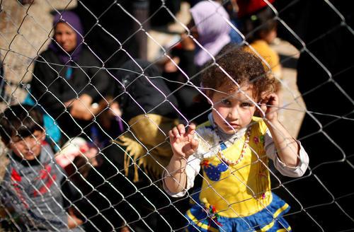 اردوگاه آوارگان جنگی شهر موصل عراق در جنوب این شهر