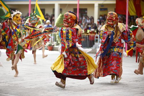 رقص آیینی در معبد بودایی ها در کاتماندو نپال