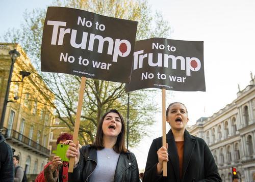 تظاهرات مخالفان جنگ علیه ترامپ در لندن