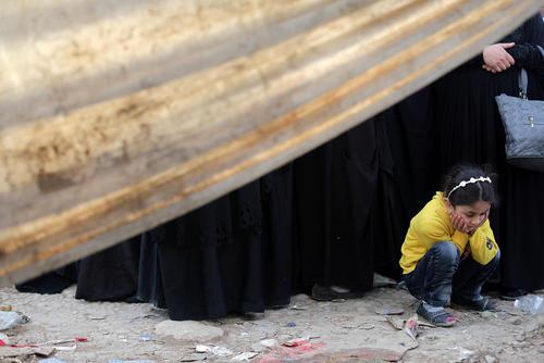 اردوگاه آوارگان جنگی موصل در جنوب این شهر
