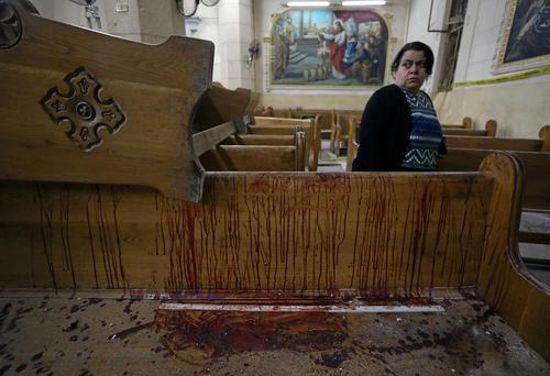 حمله انتحاری داعش به کلیسای مسیحیان قبطی مصر در شهرهای طنطا و اسکندریه