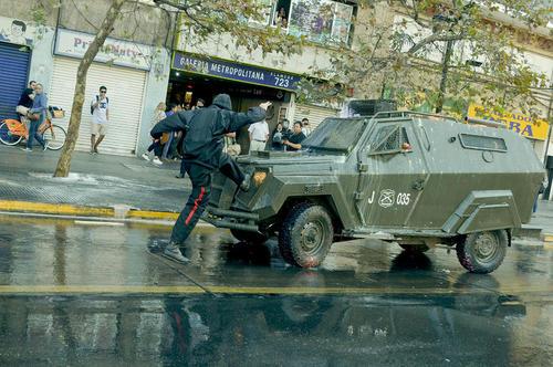تظاهرات دانشجویی در پایتخت شیلی