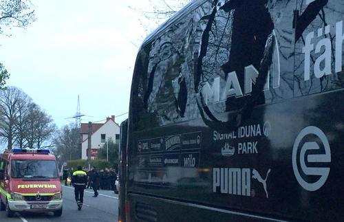 انفجار در نزدیکی هتل اقامت تیم فوتبال بورسیا دورتموند آلمان
