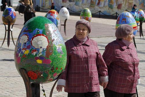 تزیینات عید پاک در شهر کی یف اوکراین