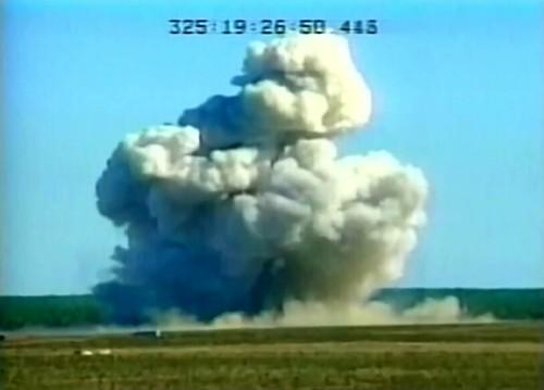 لحظه اصابت بزرگترین موشک غیراتمی آمریکا