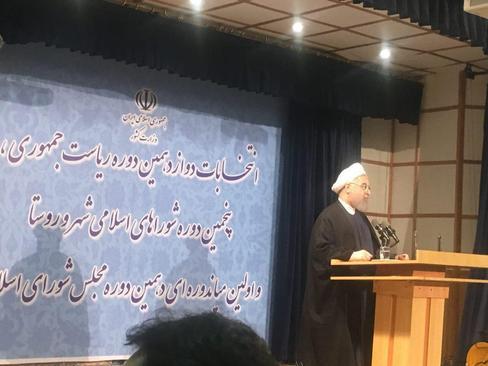 سخنرانی روحانی در جمع خبرنگاران بعد از ثبت نام کاندیداتوری ریاست جمهوری
