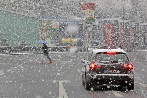 بارش برف در آلمان