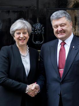 دیدار رهبران بریتانیا و اوکراین در مقر نخست وزیری بریتانیا در لندن