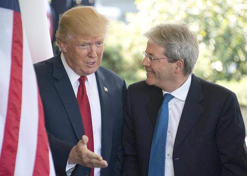 استقبال ترامپ از نخست وزیر ایتالیا در کاخ سفید