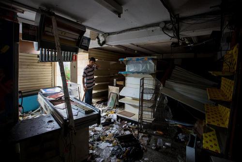 ویرانی های ناشی از اعتراضات ضد دولتی در پایتخت ونزوئلا