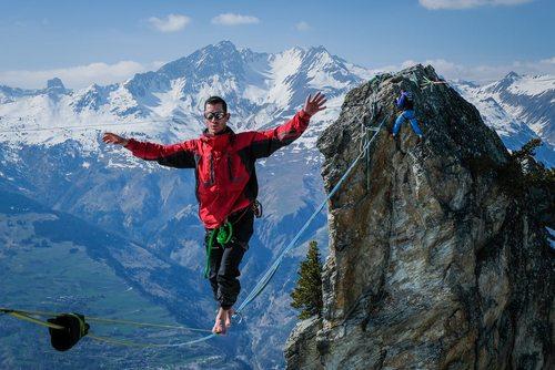 بندبازی در ارتفاعات بلند – مونت بلانک فرانسه