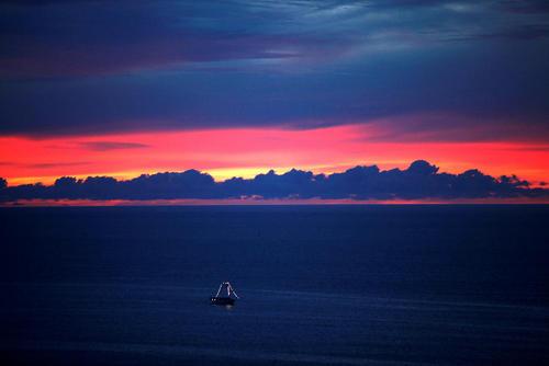یک قایق ماهیگیری در دریای فورتالزا – برزیل