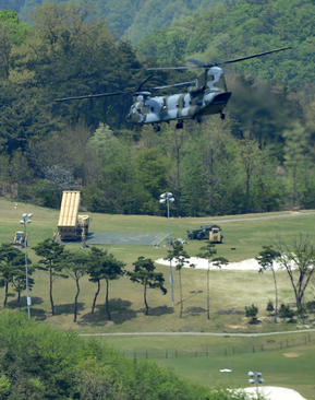 عملیات نصب سیستم دفاع موشکی آمریکایی