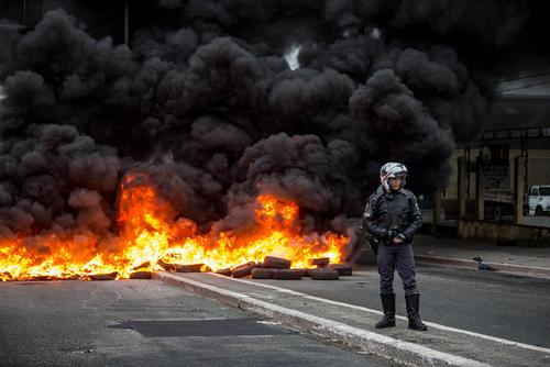 اعتصاب سراسری کارگران و کارمندان برزیلی علیه اصلاح قانون کار و دستمزد – شهر سائوپائولو