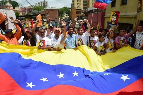 تظاهرات مخالفان علیه رئیس جمهور ونزوئلا