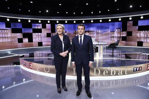نخستین مناظره تلویزیونی دو نامزد راه یافته به مرحله دوم انتخابات ریاست جمهوری فرانسه