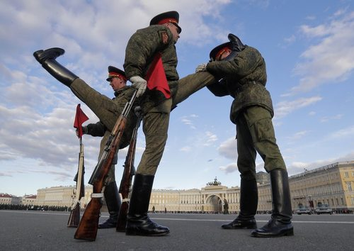 تمرینات کششی برای رژه – ارتش روسیه