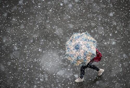 بارش برف در مسکو