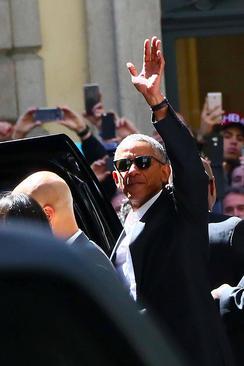 حضور باراک اوباما رییس جمهور سابق آمریکا در شهر میلان ایتالیا به منظور شرکت و سخنرانی در کنفرانس امنیت غذایی و تغییرات اقلیمی