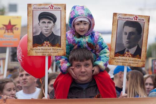 جشن ها و رژه های روز ملی پیروزی در سراسر روسیه