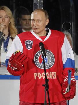 سخنرانی ولادیمیر پوتین در بازی فینال لیگ هاکی روی یخ روسیه – سوچی