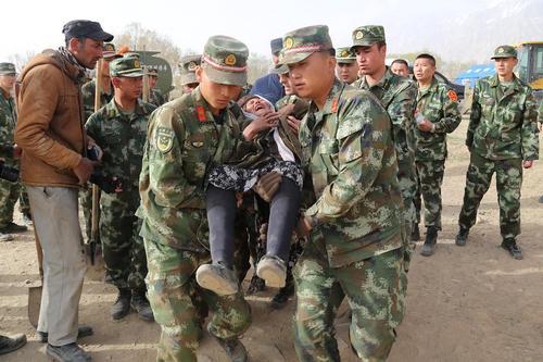 امداد رسانی پس از زلزله 5.5 ریشتری- چین
