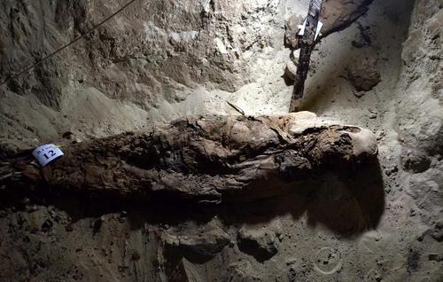 کشف مومیایی جدید از یک مقبره در 234 کیلومتری شهر قاهره مصر