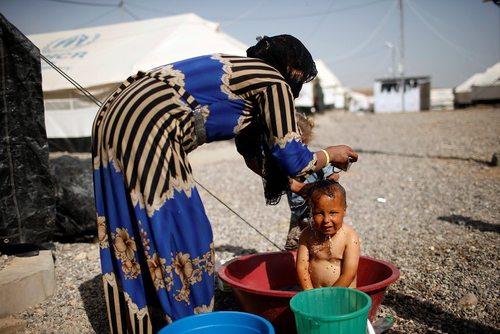 اردوگاه آوارگان جنگی در جنوب شهر موصل عراق