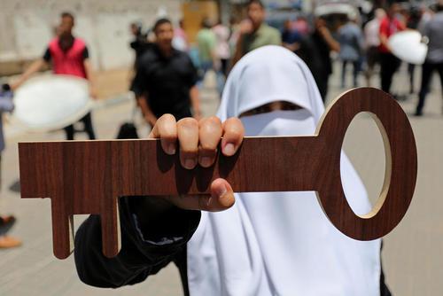 تظاهرات فلسطینی ها در شصت و نهمین سالگرد روز نکبت؛ سالروز تشکیل رژیم اسراییل – غزه