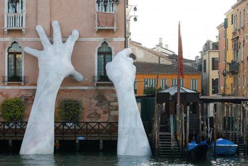 اثری هنری در ونیز ایتالیا