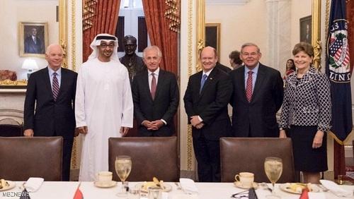 محمد بن زاید و تعدادی از نمایندگان کنگره