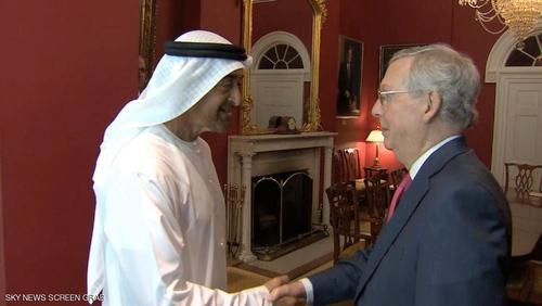 محمد بن زاید و میچ ماکونل عضو مجلس سنای آمریکا