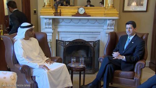 محمد بن زاید و رئیس مجلس نمایندگان آمریکا