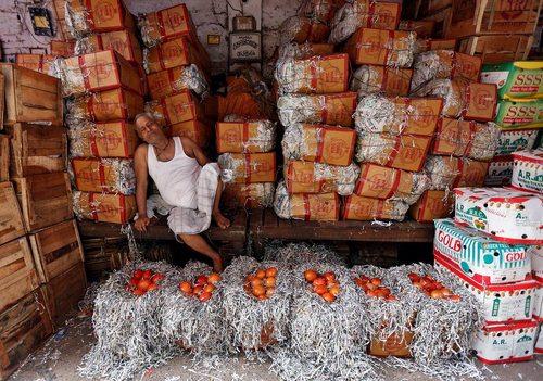 بازار میوه در کلکته هند