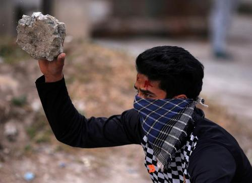 تظاهرات بر ضد پلیس هند در سرینگر کشمیر