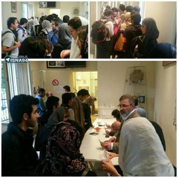 شعبه اخذ رای در میلان-ایتالیا