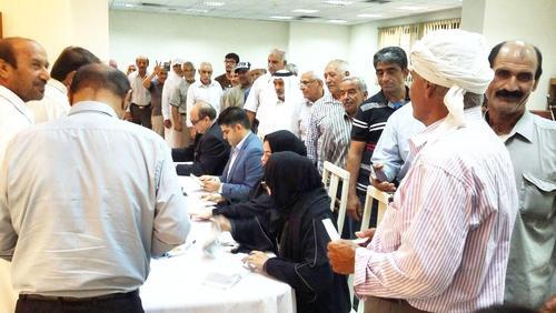صف رای ایرانی ها - قطر