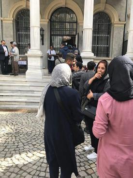 صف رای در استانبول ترکیه