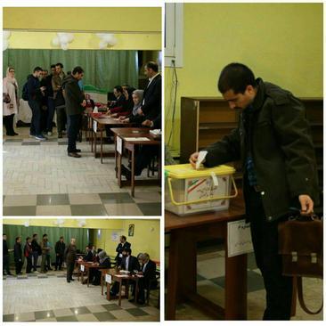 صف رای ایرانی ها در مسکو روسیه