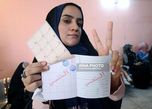 رای یک زن ایرانی در بصره عراق