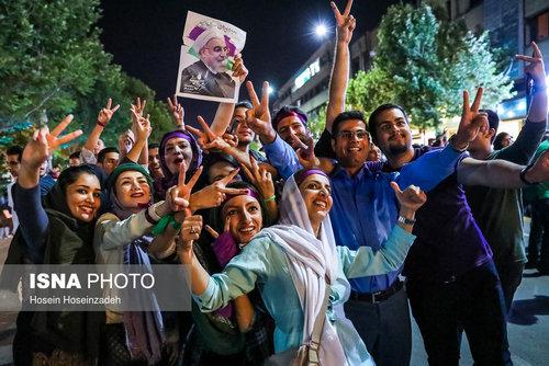 شادی مردم پس از انتخابات ۲۹ اردیبهشت - مشهد