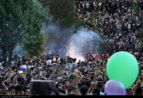 شادی هواداران روحانی در خرم آباد
