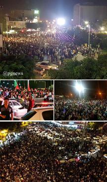 جشن مردمی در میدان امام بوشهر به مناسبت پیروزی حسن روحانی